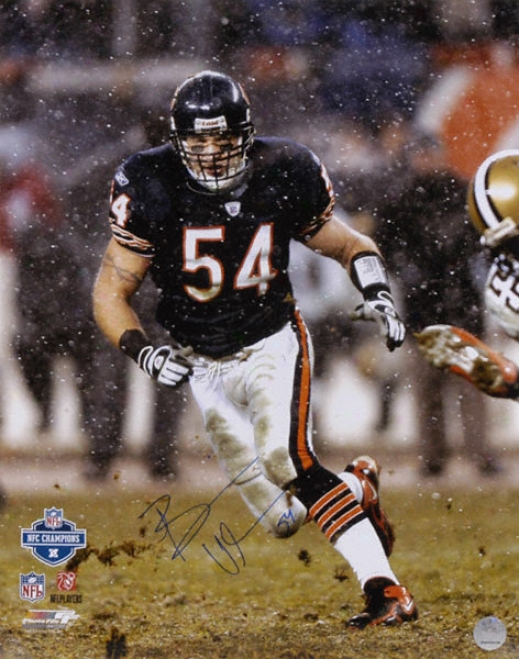 Brian Urlacher Chicago Bears - Snow - Autographed 16x20 Photograph