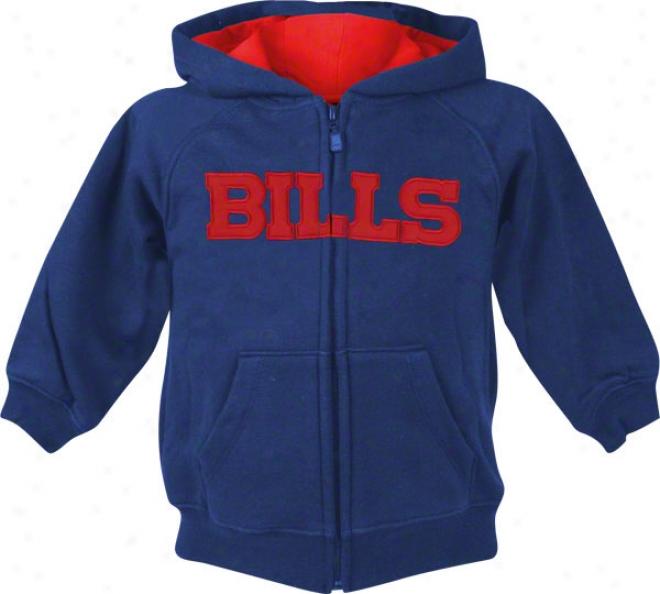 Buffalo Bills Kids (4-7) Sportsman Full-zip Fleece Hooded Sweatshirt