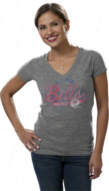 Buffalo Bills Women's Tri-blend Arched Tailsweep Too T-shirt