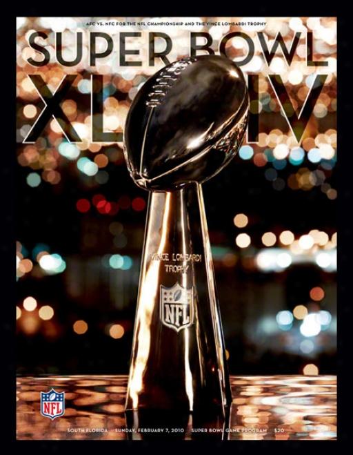 Canvas 36 X 48 Super Bowl Xliv Progrsm Print  Details: 2010, Saints Vs Colts
