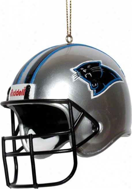Carolina Panthers Team Helmet 3&quot Ornament