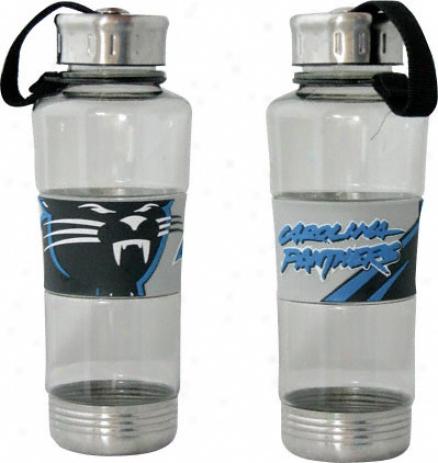 Carolina Pantyers Water Bottle: 24oz Polycarb Water Bottle