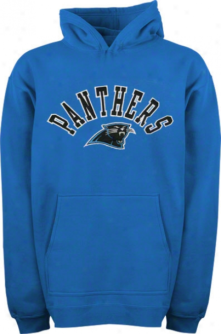 Carolina Panthers Youth Electric Blue Atched Team Name W/logo Cucullate Sweatshirt
