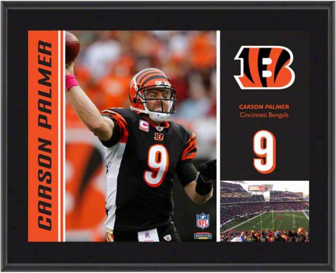 Carson Palmer Plaque  Details: Cincinnati Bengals, Sublimated, 10x13, Nfi Plaque