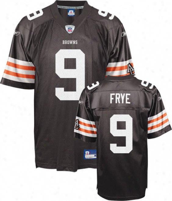 Charlie Frye Jersey: Reebok Brown Replica #9 Cleveland Browns Jersey