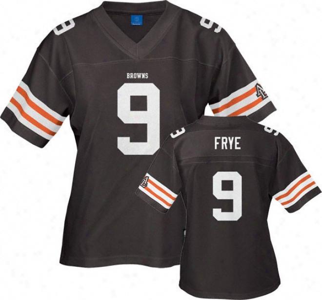 Charlie Frye Reebok Nfl Replica Cleveland Browns Women's Jersey