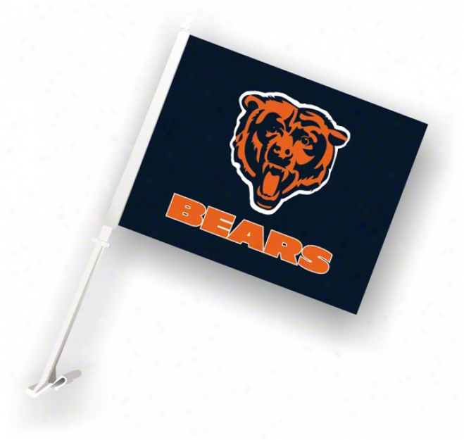 ChicagoB ears 11x18 Double Sided Car Flag - Set Of 2
