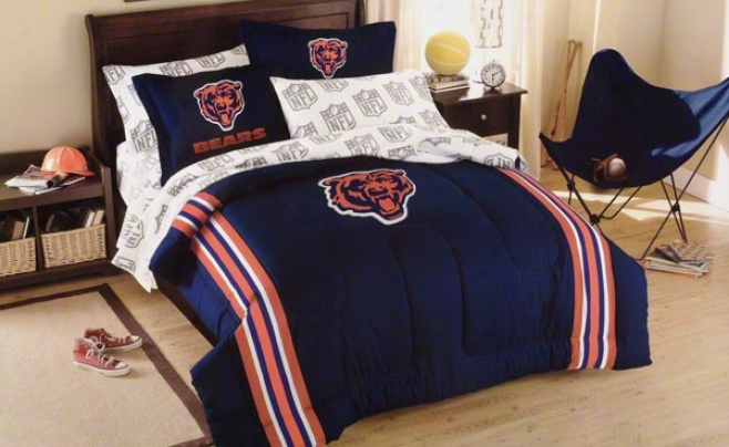 Chicago Bears Applique Full-twin Comforter Value With Shams