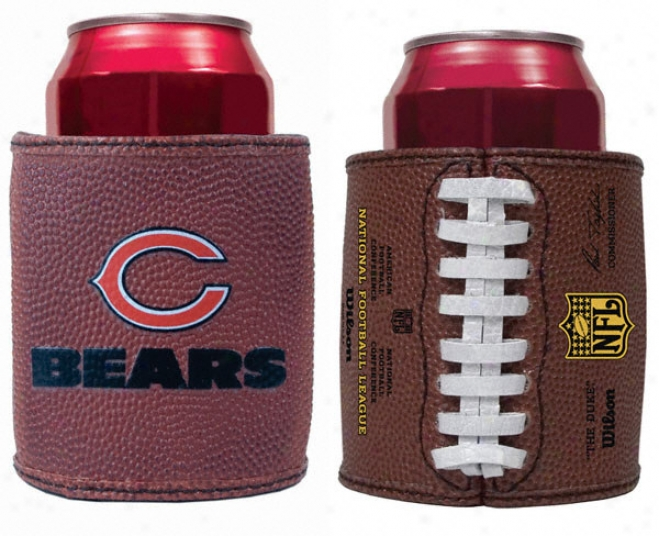 Chicago Bears Authentic Football Grasp Can Koozie - Set Of 2