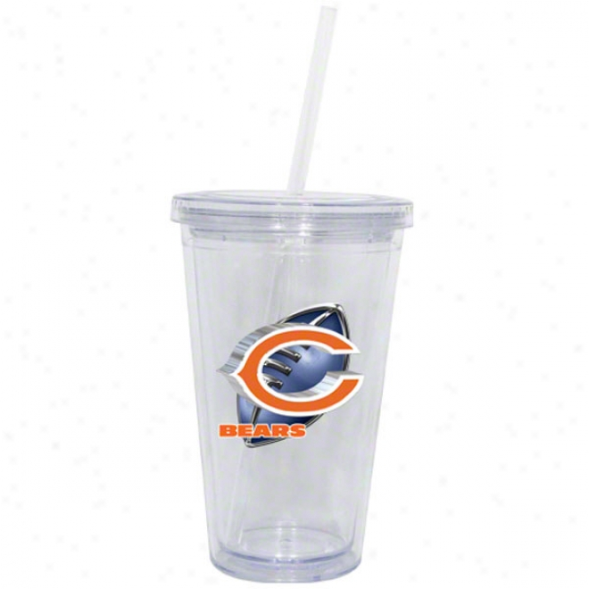 Chicago Bears Double Wall Tumbler With Straw