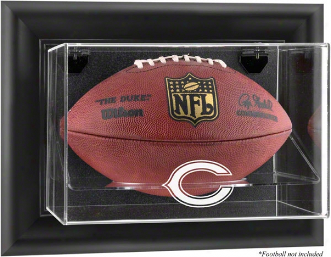 Chocago Bears Framed Wall Mounted Logo Football Display Case