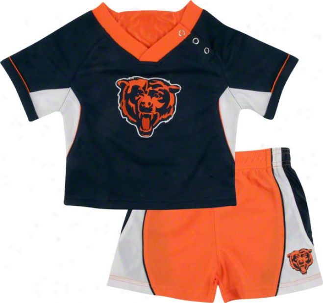 Chicago Beas Infant Raglan Crew Shirt And Shorts Combo Pack