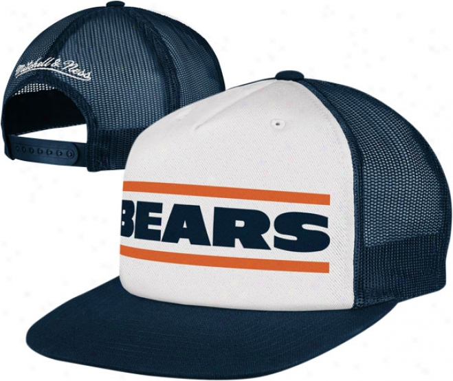 Chicago Bears Mitchell & Ness Throwback Meshback Snapback Adjustanle Hat