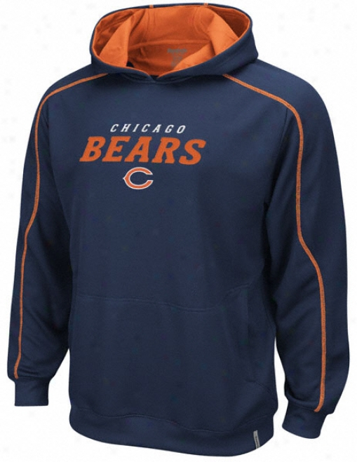 Chicago Beads Navy Active Hooded Sweatshirt