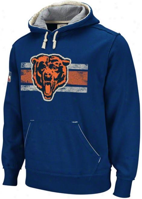 Chicago Bears Navy Vintage Pillover Hooded Sweatshirt
