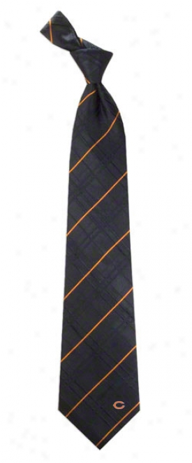 Chicago Bears Oxxford Woven Sipk Tie