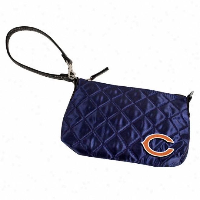 Chicago Bears Quilted Wristlet