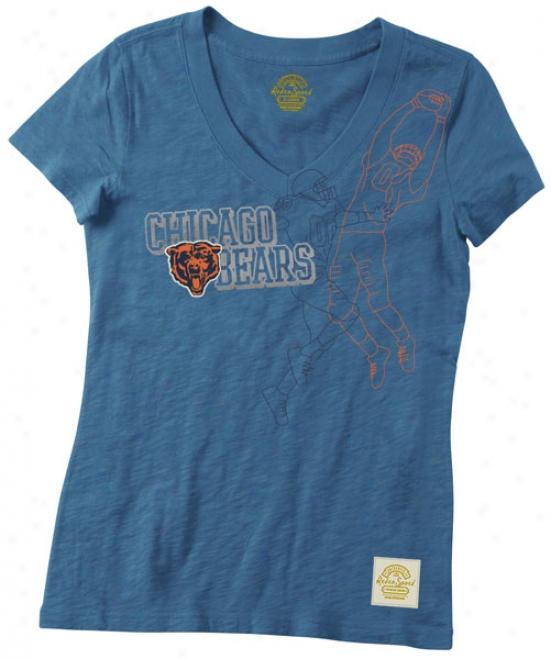 Chicago Bears Retro Sport Women's The Catch V-neck T-shirt