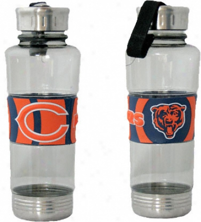 Chicago Bears Water Bottle: 24oz Polyycarb Water Bottle