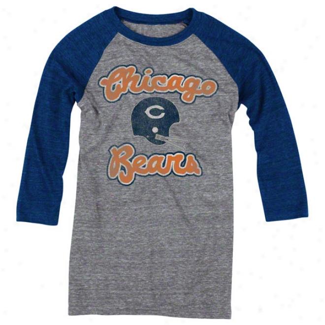 Chicago Bears Women's Take Back Tri-blend 3/4 Sleeve Raglan T-shirt