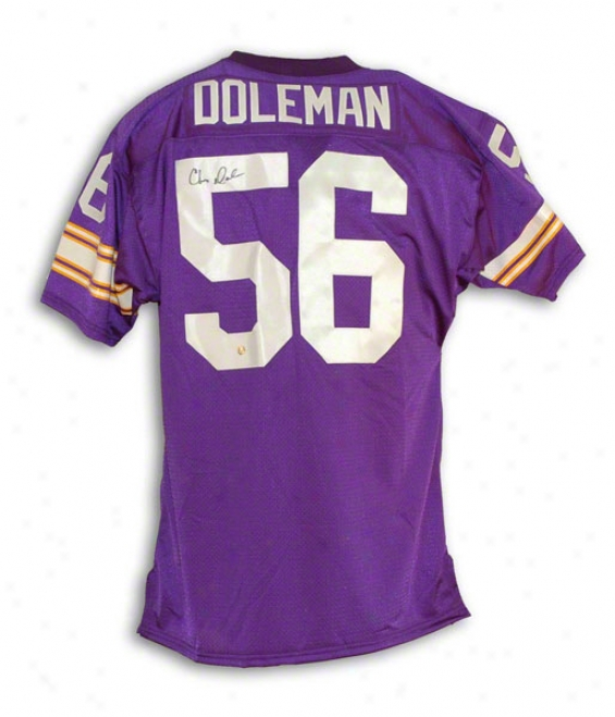 Chris Doleman Autographed Minnesota Vikings Autographed Purple Throwback Jetsey