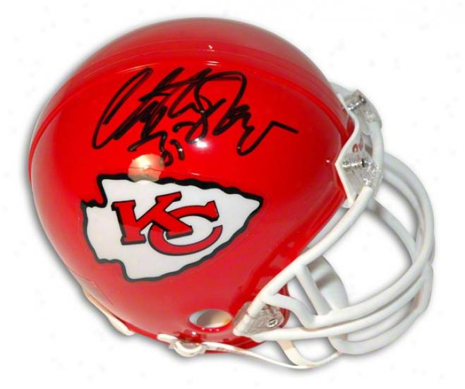 Christian Okoye Autographed Kanss City Chieefs Mini Helmet