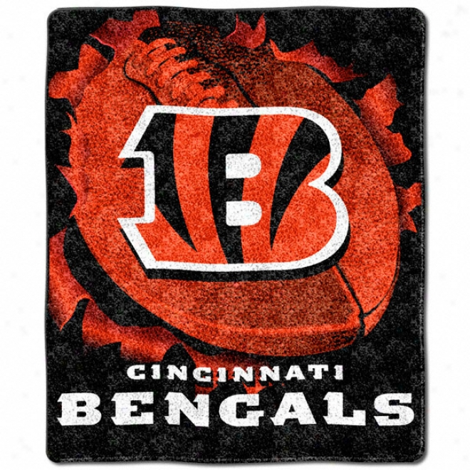 Cincinnati Bengals 50x60 Burst Series Sherpa Throw