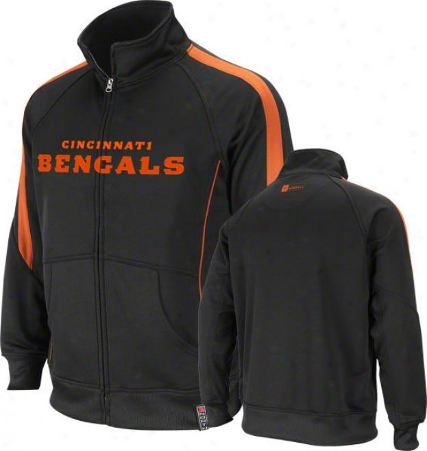 Cincinnati Bengals Black Tailgate Present life Track Jacket