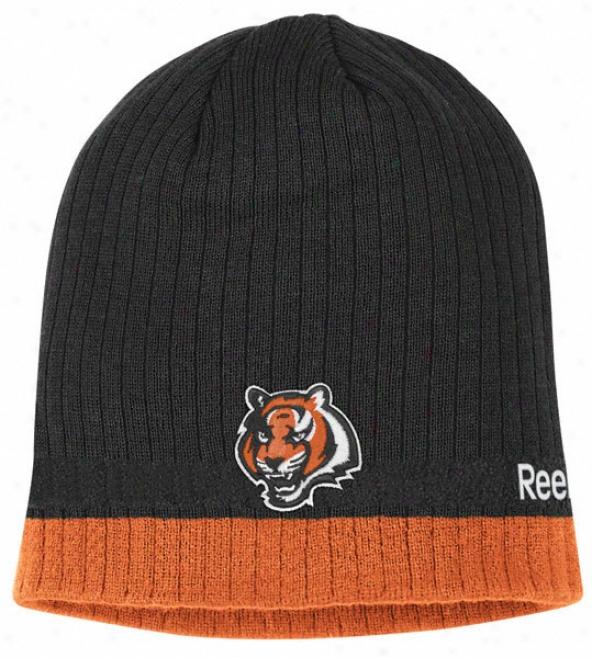 Cincinnati Bengals Rewbok 2010 Coaches' Sideline Cuffless Knit Hat