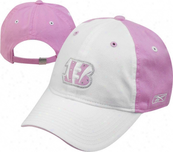 Cincinnati Bengals Women's Pink Rhinestone Hat