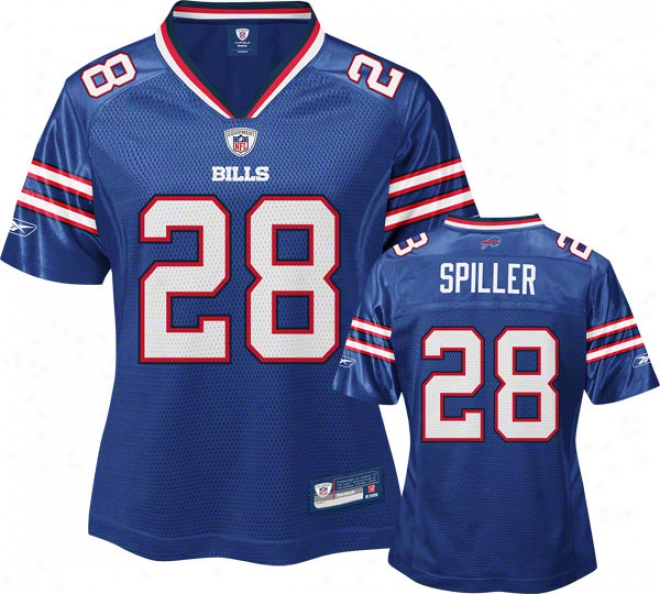 C.j. Spiller Reebok Royal Nfl Replica Buffalo Bills Women's Jersey