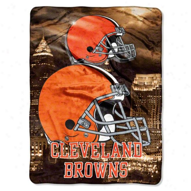 Cleveland Browns 600x80 Aggression Raschel Throw
