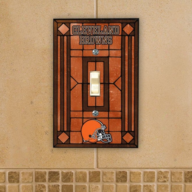 Cleveland Browns Art Glass Switch Cover