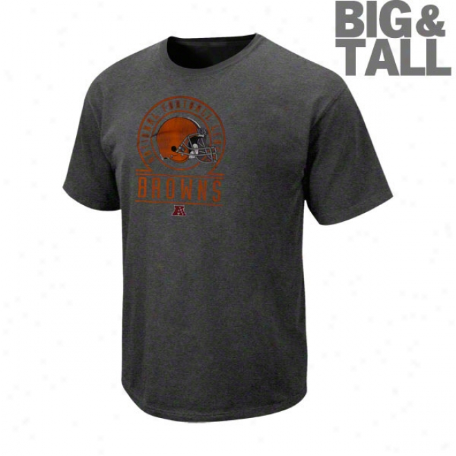 Cleveland Browns Big & Tall Vintage Stadium Wear Ii Pigment Dye T-shirt