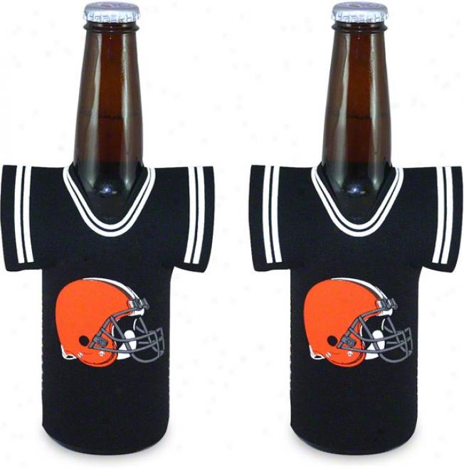 Cleveland Browns Botttle Jersey Koozie 2-pack