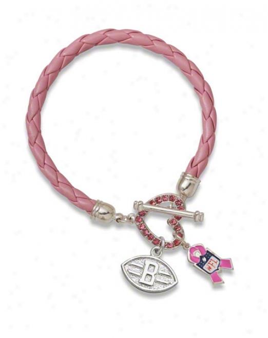 Cleveland Browns Breast Cancer Awareness Bracelet