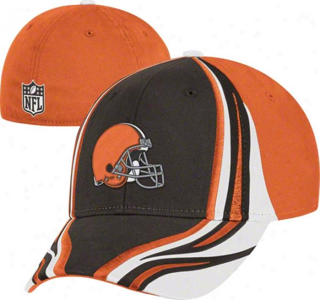Cleveland Beiwns Flex Hat: Structured Race Stripes Flex Hat