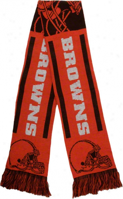 Cleveland Browns Holdiat Stripe Scarf