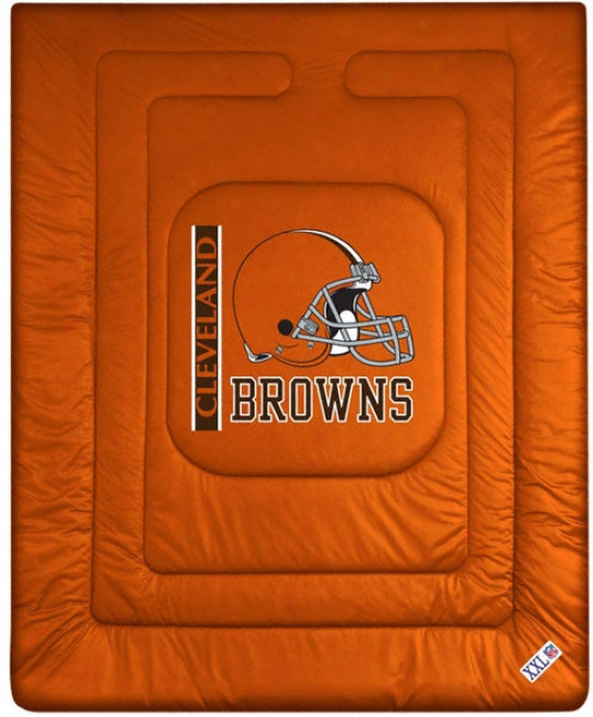 Cleveland Browns Locker Unoccupied space Comforter - Twin Bed