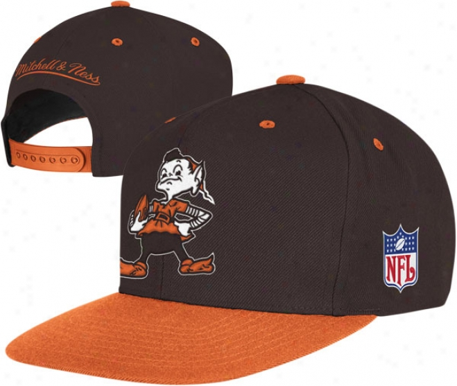 Cleveland Browns Mitchell & Ness Throwback Standard 2 Tone Adjustable Snapback Hat