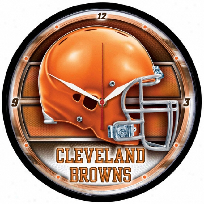 Cleveland Browns Round Clock