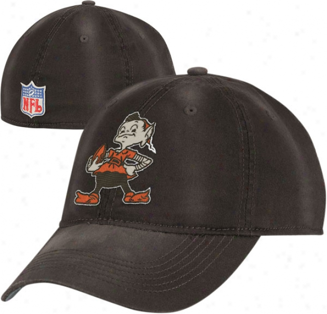 Cleveland Browns Throwback Hat: Vintage Sandblasted Slouch Flex Hat
