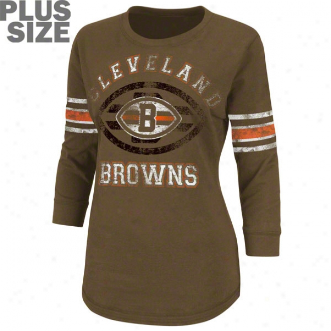 Cleveland Browns Women's Plus Size Victory Is Sweet 3/4 Sleeve Top