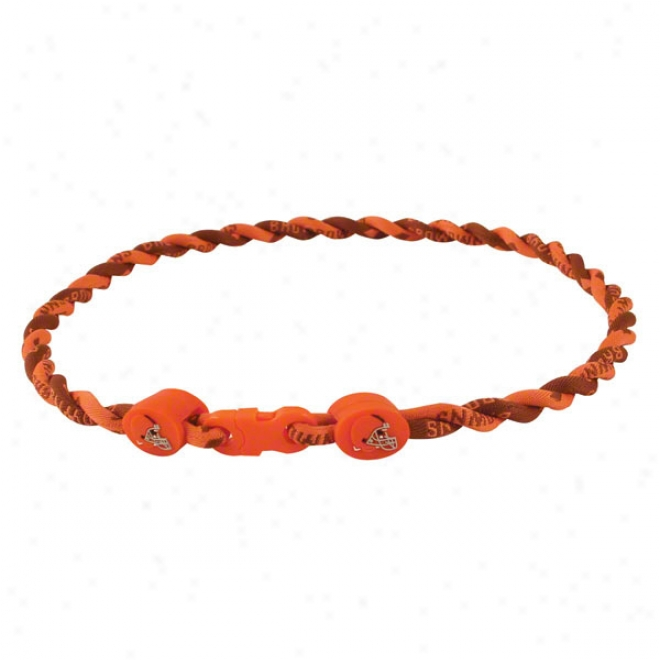 Cleveland Browns Youth Twist Titanium Necklace