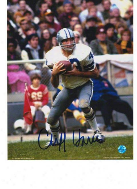 Cliff Harris Dallas Cowboys Autographed 8x10 Photo Interception