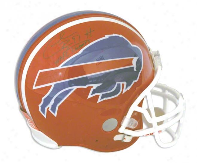 Cornelius Bennett Buffalo Bills Autographed Proline Helmet Inscribed 4x Afc Champs