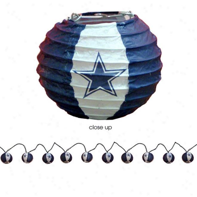 Dallas Cowboys 10 Lantern Light String