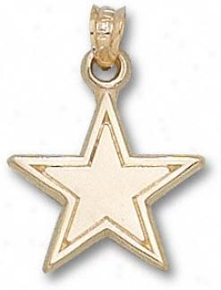 Dallas Cowboys 14k Gold Star 5/8'' Pendant