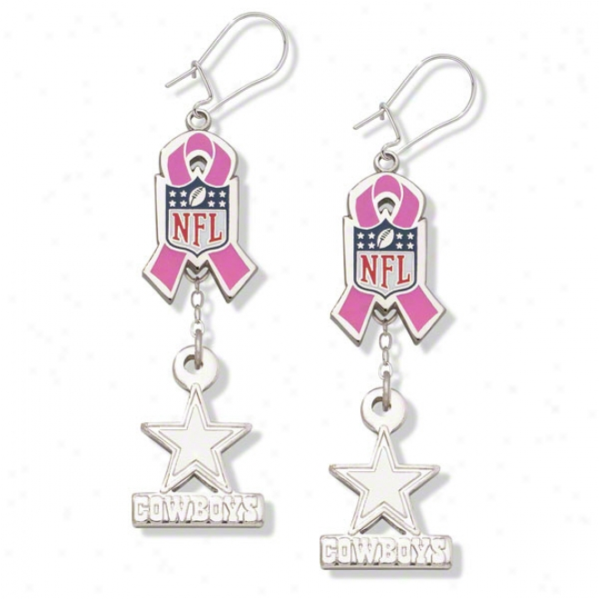 Dallas Cowboys Breast Cancer Awardness Earrings