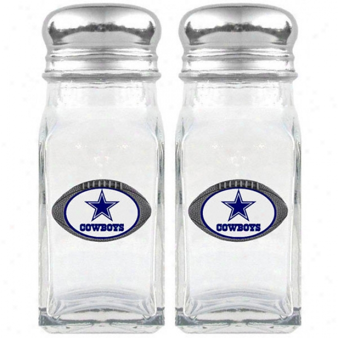 Dallas Cowboys Glass Salt And Pepper Shakers
